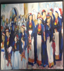 """Painting """"Procession"""""""